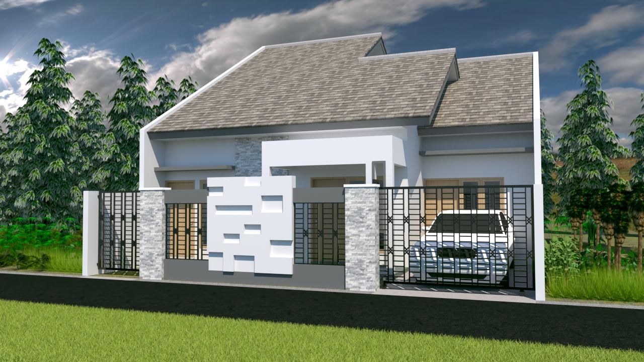 Desain Rumah Minimalis 1 Lantai Ukuran 10 X 22 Meter Lengkap Tokofile