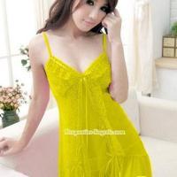 Baju Tidur Wanita Transparan - NR 1044 kuning