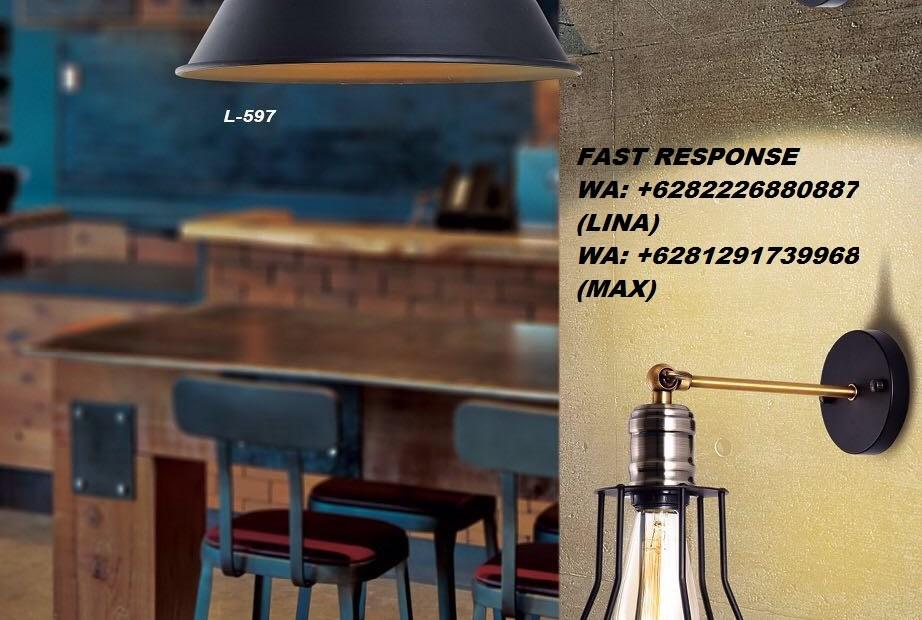 A15 LAMPU HIAS LAMPU DINDING INDUSTRIAL KIPAS