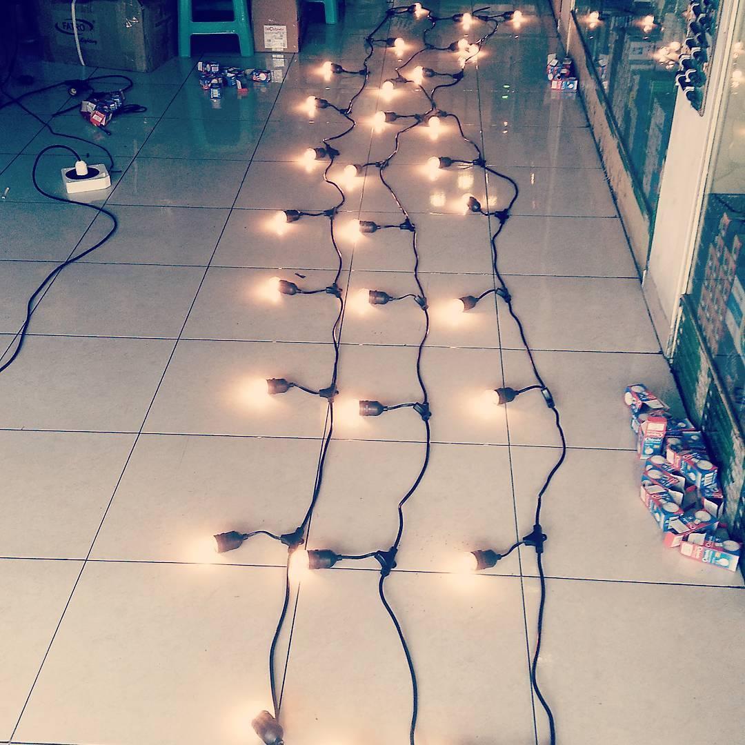 Lampu String Lights Penjor Outdoor Yogyakarta