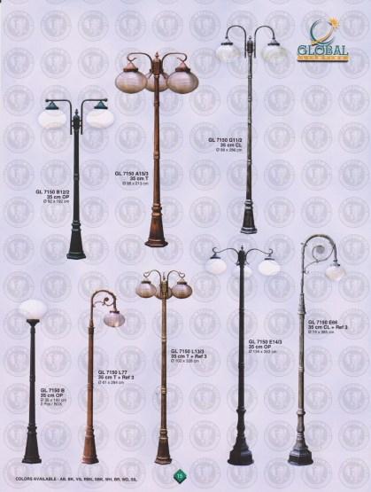 015 LAMPU PILAR DINDING ANDONG DELMAN MALIOBORO