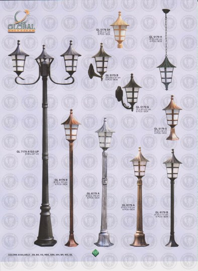117 LAMPU PILAR DINDING ANDONG DELMAN MALIOBORO