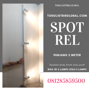 lampu spot rel 2 meter putih