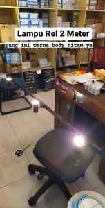 lampu rel 2 meter hitam