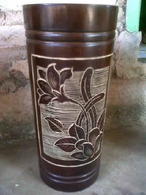 Cara Membuat Vas Bunga Dari Pelepah Pisang : membuat, bunga, pelepah, pisang, Gambar, Bunga, Serat