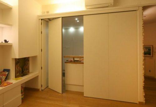 Ide desain partisi sliding wall untuk sekat ruang rumah