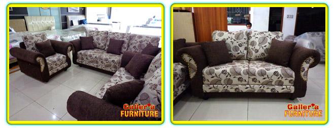 Brown Flowery Toko Furniture Dan Spring Bed Murah Di Bandung