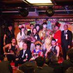 徳川三代将軍家光と歌舞伎者と姫と和太鼓奏者 東京新観光名所御座船安宅丸