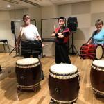 【日本江戸文化体験プログラム】イギリスから夫婦で和太鼓体験