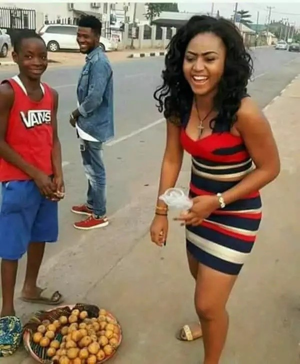 This Teenage Fruit Seller Says He will die for Actress Regina Daniels