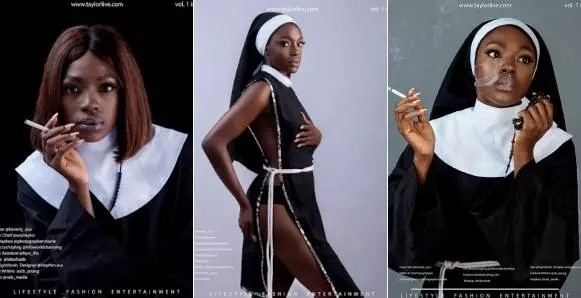 Beverly Osu Reacts To Nigerians Slamming Her For Smoking Cigarette As A Nun On Magazine Cover