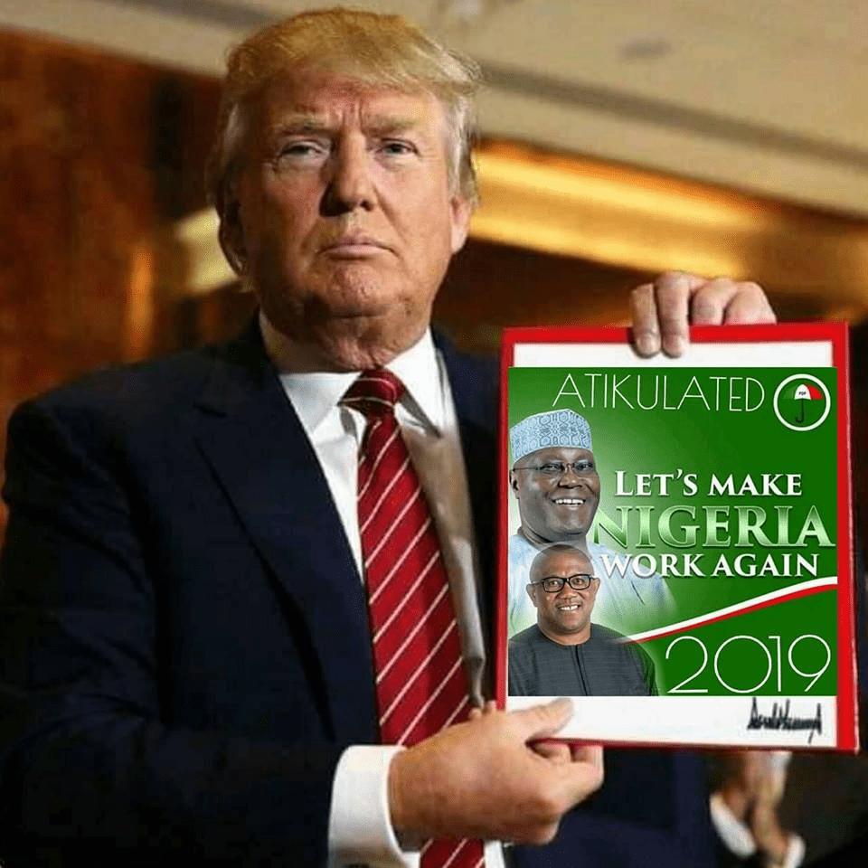 Wait! Donald Trump Endorses Atiku Abubakar for President?