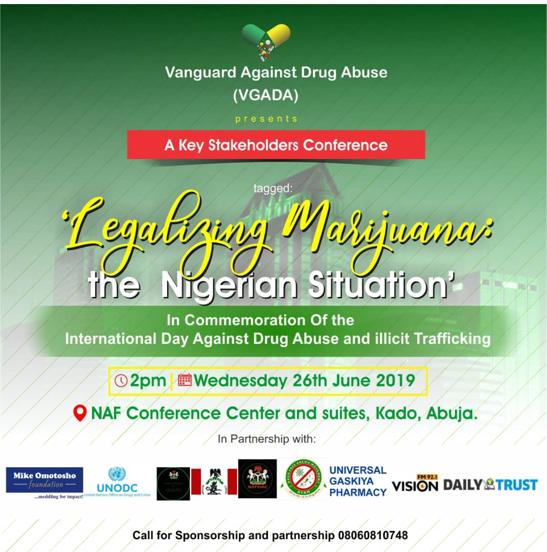Register for VGADA Stakeholders Conference on Legalizing Marijuana in Nigeria