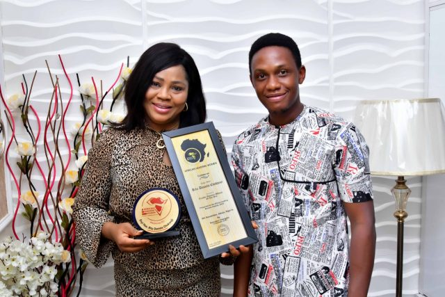 Hon. Rita Daniels with Abel Wealth (Co-founder Toktok9ja Multi-Media)
