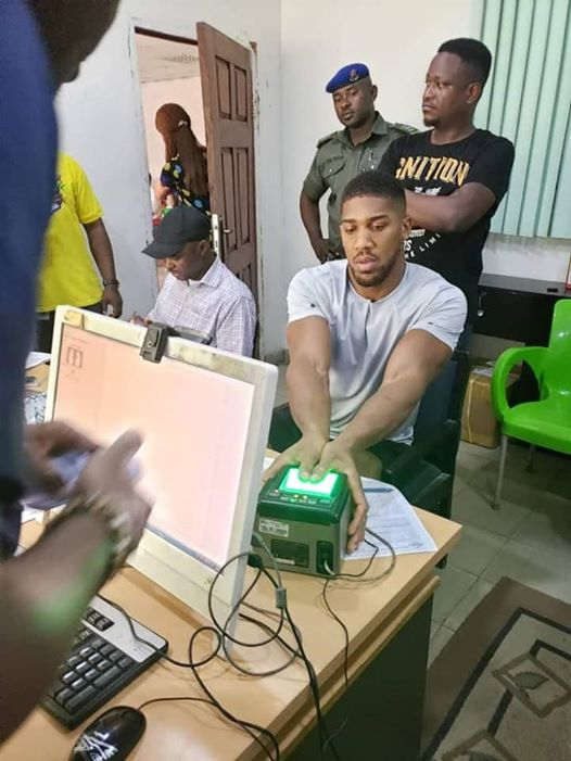 Anthony Joshua Registers for National Identity Card