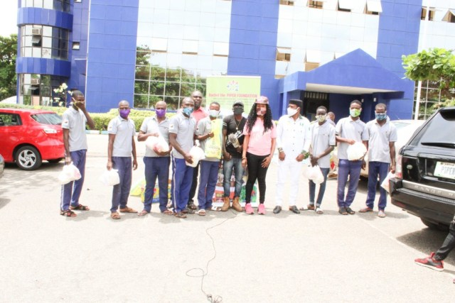 Rachel the PIPER FOUNDATION Distributes Palliatives to Media Houses in Abuja