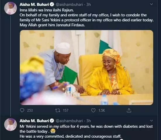 Just in: Aso Villa Record Another Death of Key Staff