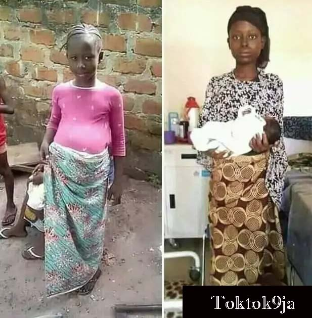 Meet the 11 Years Old Teenage Girl Who Just Give Birth in Jos