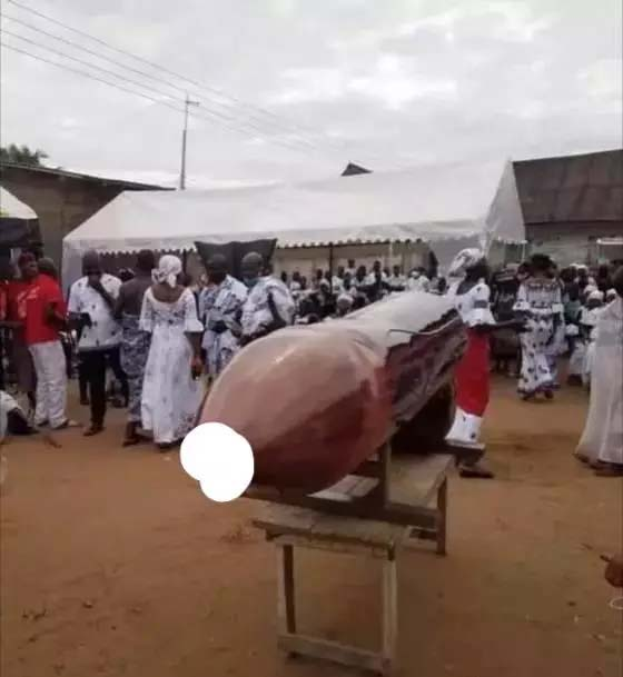 Deceased Slay Queen Buried in a Penis-Shaped Coffin By Family