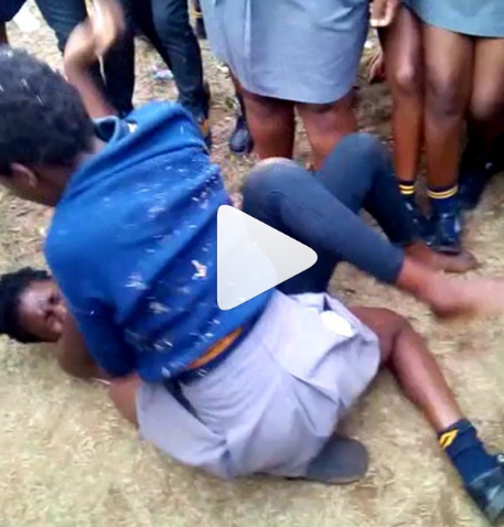 African Female Students Fight