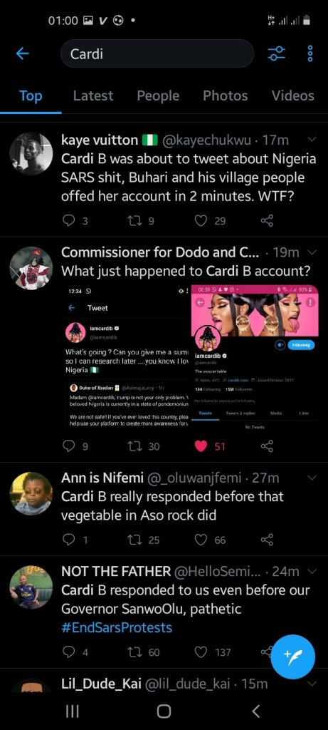 Cardi B's Account Gets Deactivated