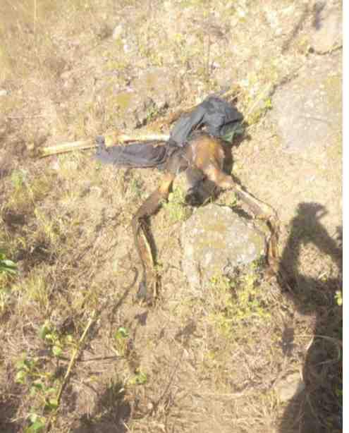 Dead Body of Hunchback Man