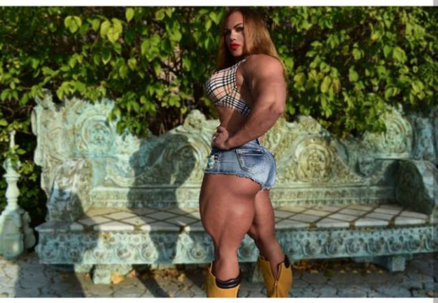 Nataliya The Heaviest Female Body Builder