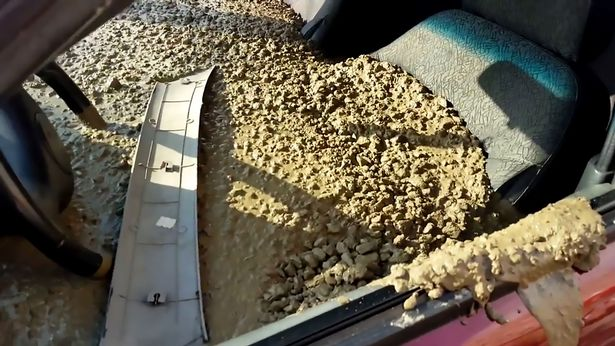 Let's Talk:  Do You Think He Went Too Far? Angry Husband Fills Wife's Car With Concrete After she Changed Her Surname