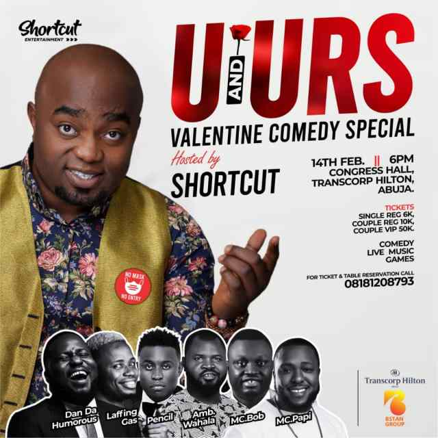 U & URS Valentine Comedy Show Will Be Explosive - Says Shortcuts