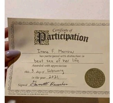 Wonders Shall Never End -   See The Certificate A Man Issued His Girlfriend Immediately After S£xual Intercourse