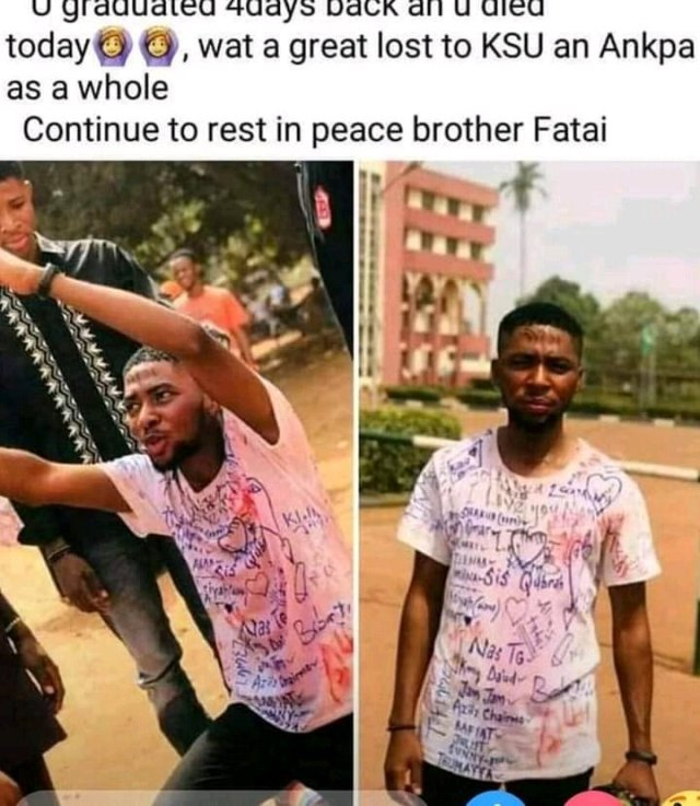 People Are Wicked, See What Was Noticed On The Man That Died After Graduating (Photos)