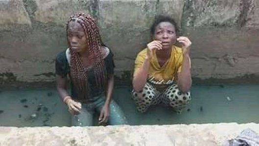 See The Two Young Female Robbers Caught And Disgraced In Rivers State