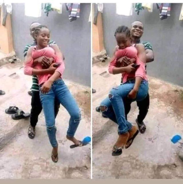Guy Grabs His Girlfriend.