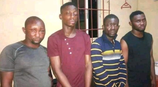See the Faces of Four-Armed Robbers Who Killed Two POS Operators in Abia State
