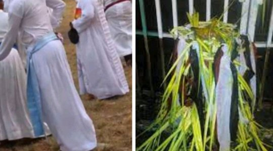 ENDTIME: See The White Garment Church That Was Sealed After Pastors Were Caught Doing JUJU