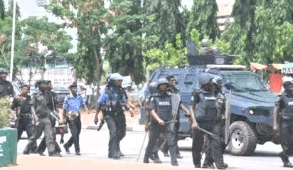 Jubilation and Gunshots As Sunday Igboho Storms Osun State Escorted By Armed Policemen