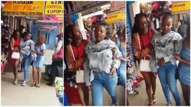 VIDEO: See the Drunk SHS Female Student Caught Staggering on the Street of Nairobi