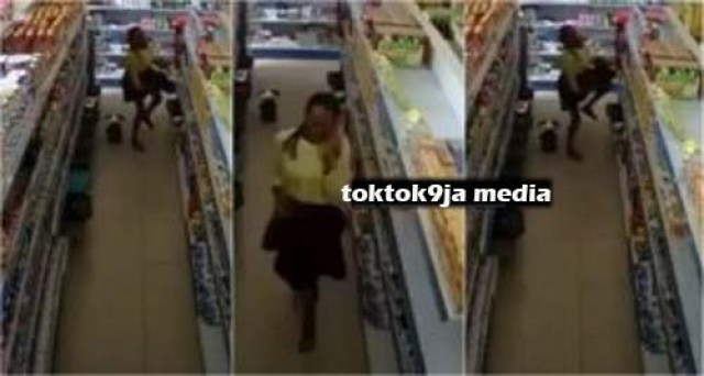 YAWA - Slay Queen Caught on CCTV Shoplifting and Hiding the Items Inside Her PriV@ate Part (VIDEO)