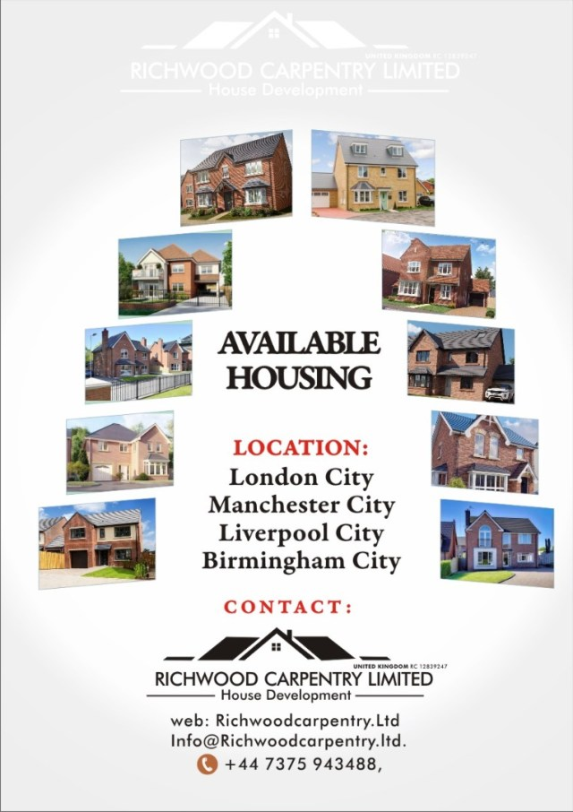 Become a Landlord in the UK, Tap into Richwood Carpentry Ltd Affordable Housing Scheme, See Details