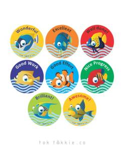 tok tokkie Teachers Reward Labels – FISH 1