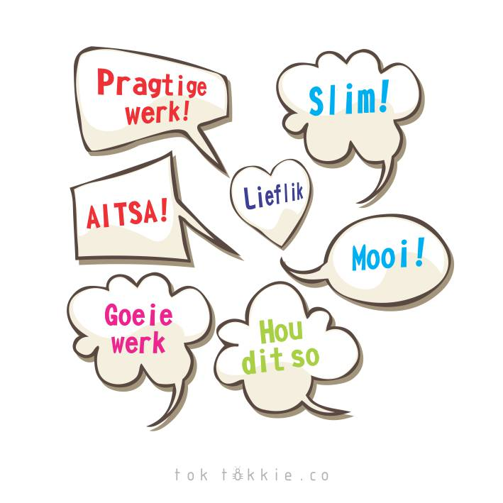 Tok Tokkie Teachers Reward Labels Speech Bubbles Afrikaans