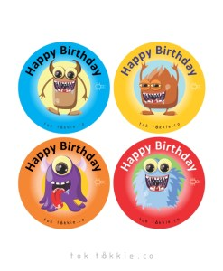 tok tokkie Teachers Reward Labels – MONSTER BDAY 2