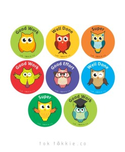 tok tokkie Teachers Reward Labels – OWLS 1
