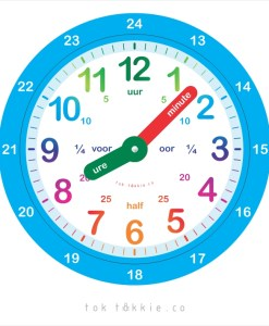 Magnetic Clock Afrikaans 1