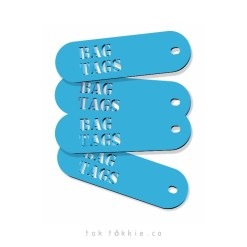 Bag tags can be made in any colour or added to any bag for school or travel. This Image was taken in Johannesburg South Africa
