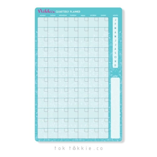 toktokkie-magnetic-quarterly-perpetual-planner-turquoise-1