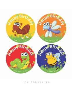 tok tokkie Teachers Reward Labels – BUGS BDAY