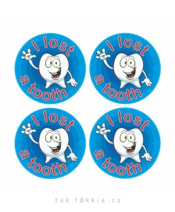tok tokkie Teachers Reward Labels – I Lost a Tooth 2
