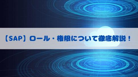 【SAP】権限・ロールについて徹底解説!