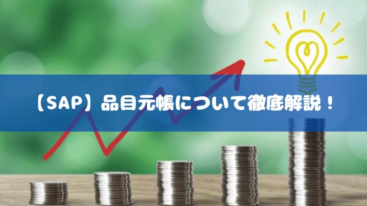 【SAP】品目元帳について徹底解説!